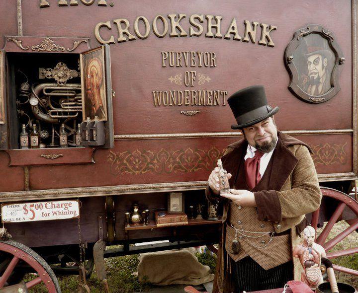 Prof. Crookshank's Traveling Medicine Show wagon | Circus ...