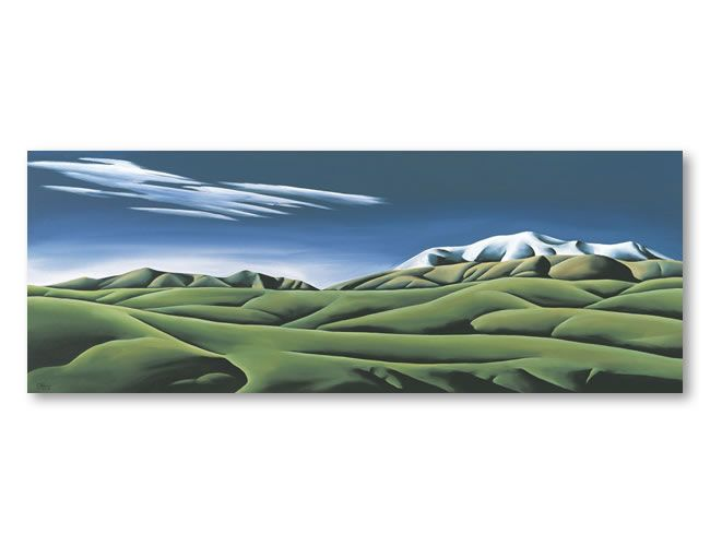 Folded Land. Diana Adams, NZ Artist.