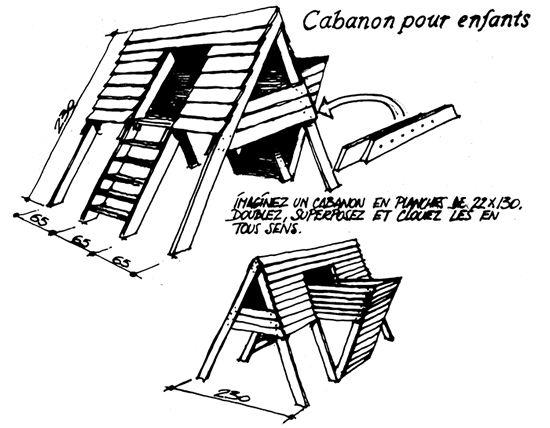 plan de cabane enfant