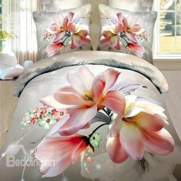 3 d hot floral queenking size set bed quiltduvet cover new cotton