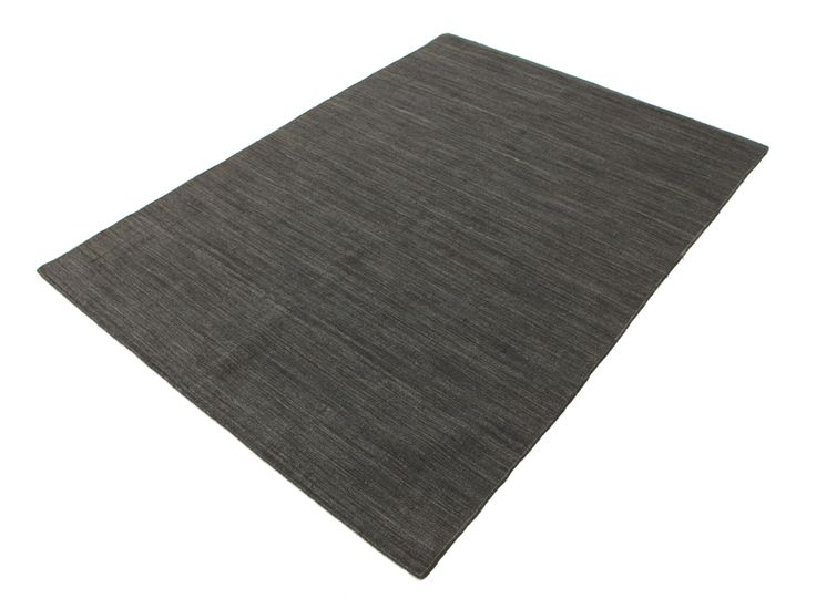 Kelim Loom - Zwart / Grijs tapijt CVD14567