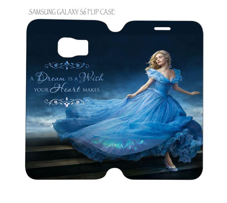 """Samsung Galaxy S6 G920 Folio Flip Case Cover Cinderella 2015 """"Ella"""" Lily James #QuinnCafe"""