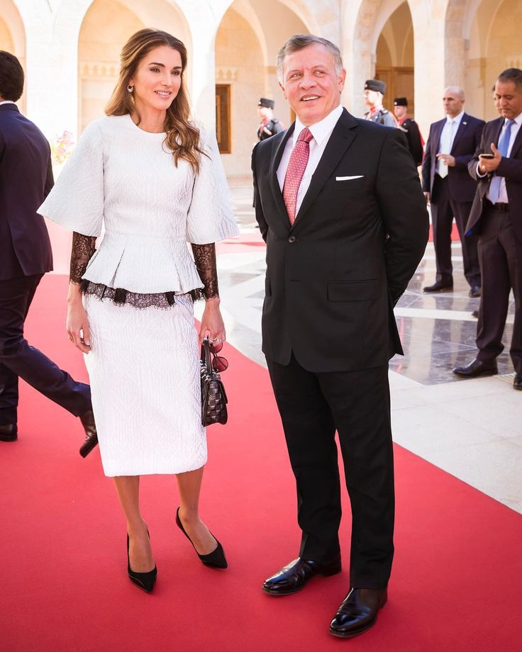 ♔♛Queen Rania of Jordan♔♛... King Abdullah and Queen Rania  of Jordan. Oct. 18, 2017