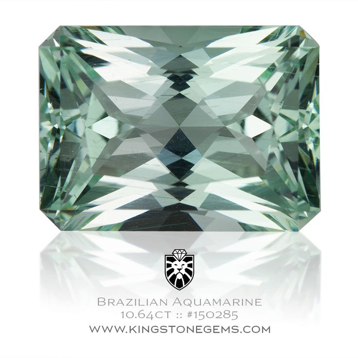 Natural Brazil Blue Green Aquamarine Rectangle Radiant - 10.64ct - 15.7x11.6x8.7mm - SKU# 150285 - An exceptional natural untreated blue green Brazilian aquamarine gem.