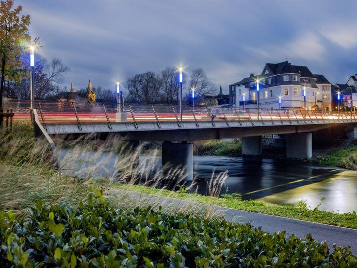 Abbey Bridge, Arnsberg (Germany) Klosterbrücke, Arnsberg (Deutschland) #luminaire #light #Beleuchtung #leuchte #design