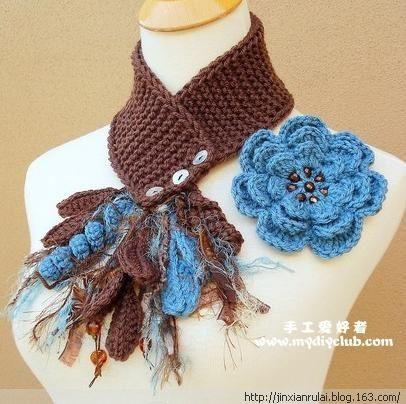又漂亮又保暖的领子装饰围巾 - jinxianrulai - 富贵牡丹金仙如来阁