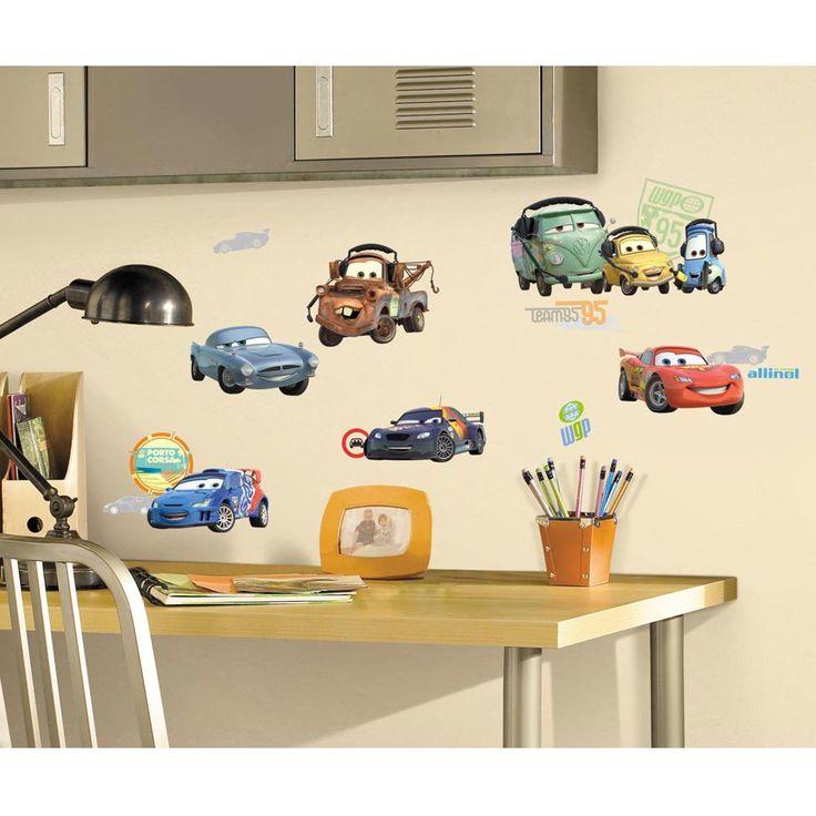 Adesivos de Parede RoomMates Colorido Cars 2 Peel & Stick Wall Decals, alucinantes!  Principais Características: Várias aplicações;  Adaptável para qualquer superfície lisa; Remoção simples, sem resíduos e sem estragar a pintura; Certificado internacional CPSIA; Em vinil 100% atóxico.A decoração do quarto do baixinho vai ficar alucinante com o Adesivo da RoomMates, que traz o Relâmpago McQueen do filme Carros para dar um toque de adrenalina ao ambiente. Superfácil de aplicar e remover, pode…