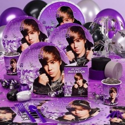Justin Bieber Basic Party Pack for 8 #birthday #bieber...... SOO going to get for my birthday :D