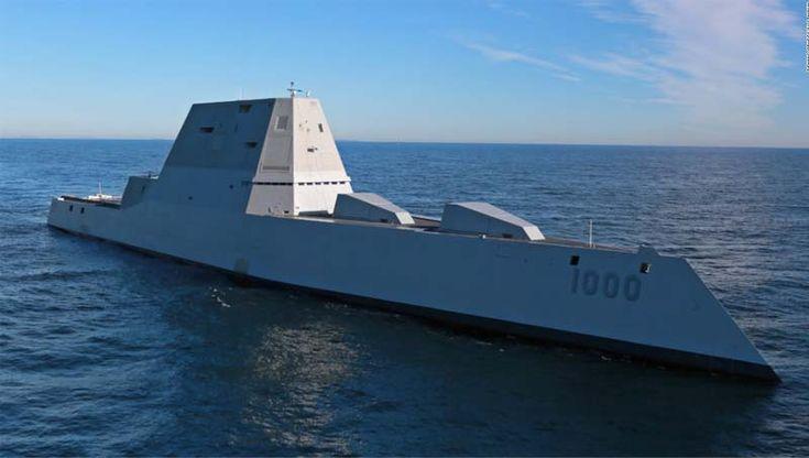 Marinha dos EUA revela o novo Destroyer Stealth. A Marinha dos EUA apresentou seu primeiro destroyer classe Zumwalt, com capacidades furtivas aos...