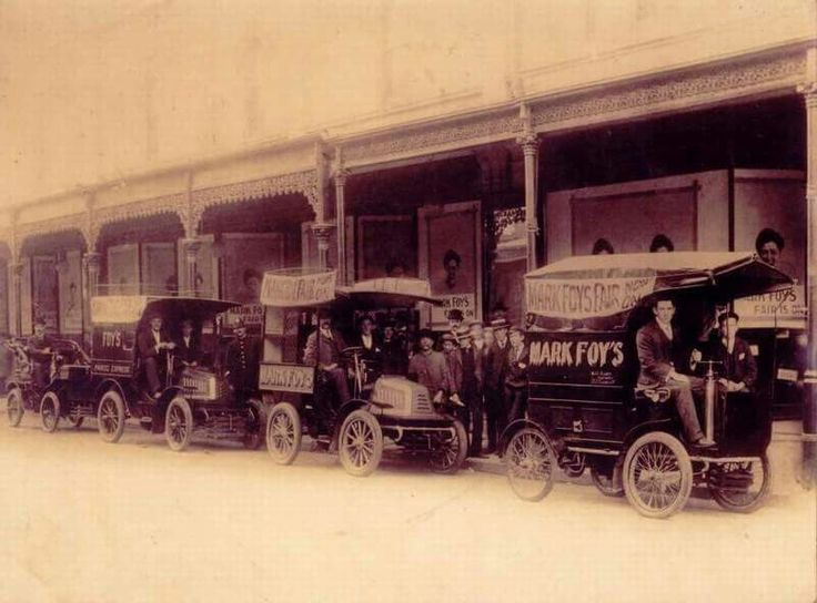 1902 Mark Foys delivery vans