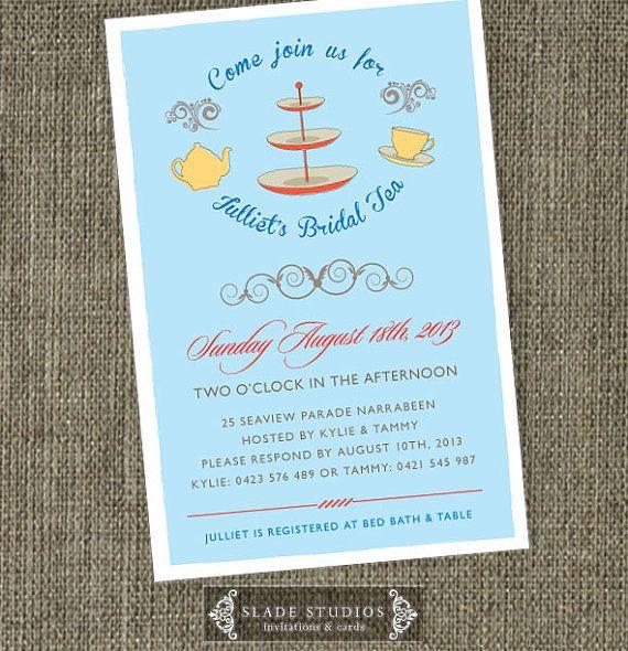 tea invitations