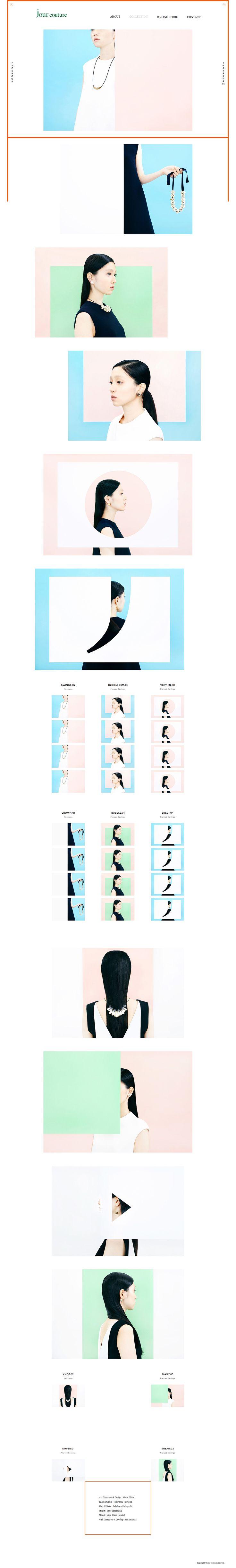 » jour couture| 縦長のwebデザインギャラリー・サイトリンク集|MUUUUU.ORG