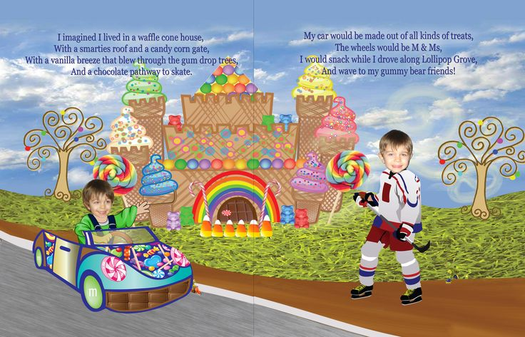Dreamland personalized book for kids, candyland preview