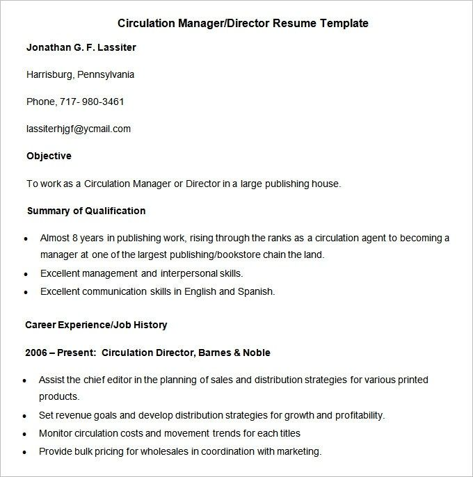 Media Resume Template 31 Free Samples Examples Format Cv Template Resume Template Cv Design Template