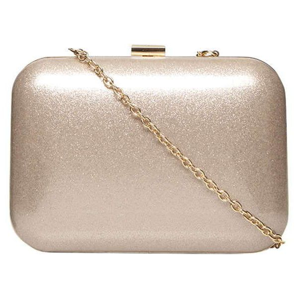Dorothy Perkins Nude clutch bag (1.320 RUB) ❤ liked on Polyvore featuring bags, handbags, clutches, purses, white, white hand bags, white box clutch, nude purses, white purse and christmas purse