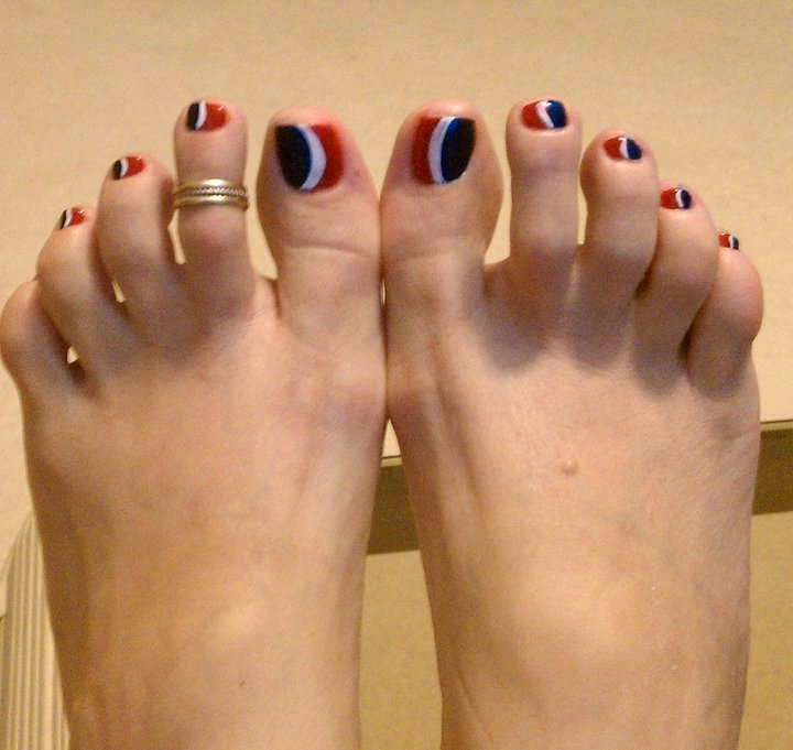 Carnival toes for when we finally go on a cruise!!!