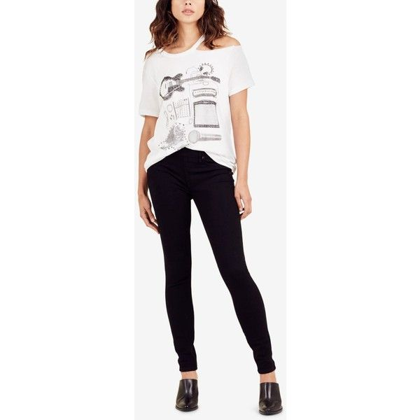 True Religion Jennie Curvy-Fit Skinny Leggings ($149) ❤ liked on Polyvore featuring pants, leggings, body rinse black, skinny fit pants, skinny pants, skinny leg trousers, true religion and super skinny pants