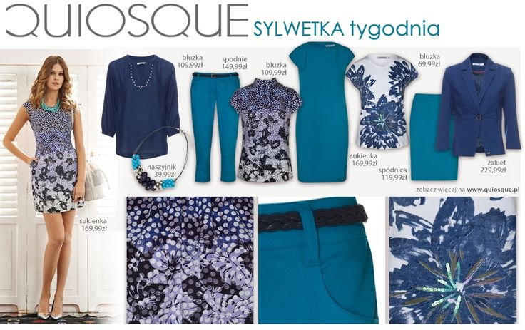 #quiosquepl #sylwetkatygodnia #fashion #inspirations #QSQ #outfit #look #spring #wear #new #collection #ss15 #MustHave #turkus #trousers #skirt #jacket #dress