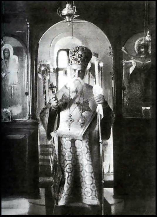 St Nektarios at his last Liturgy