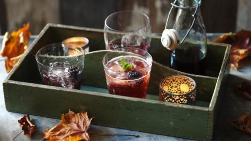 With the addition of American cream soda, this sloe gin cocktail is very sweet and drinkable.