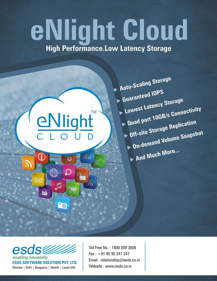 #eNlight #Cloud High #Performance. Low Latency #Storage. #Cost-effective Solution. Check Out here: https://www.esds.co.in/enlight-cloud-hosting.php