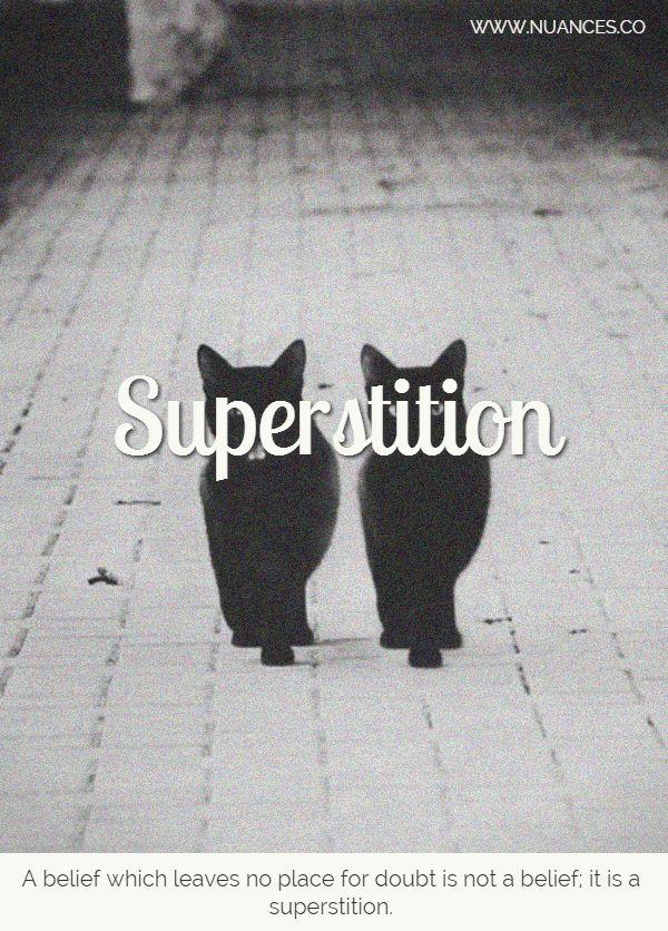Do you believe in #Superstitions? #Nuances http://nuances.co/n/nuance/54ec933b0358514d339a5d94