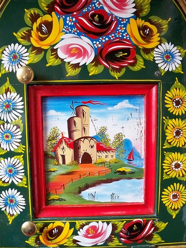 Hand painted artwork from the canals in England