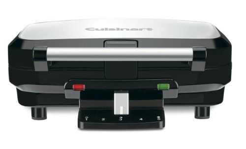 Cuisinart WAF-100 4-Slice Belgian Waffle Maker http://www.easterdepot.com/cuisinart-waf-100-4-slice-belgian-waffle-maker/ #easter  With Cuisinart 4 Slice Belgian Waffle Maker, Cuisinart merges high performance and perfect, customized results with an elegant, contemporary design.  It makes 4 waffles at a time, utilizing the 5 setting shade control and Ready-to-Bake/Ready-to Eat indicator lights for ideal results every time.  The stainless steel cover and handle add a tasteful touch to..