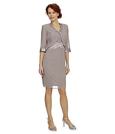 Le bos 2piece jacket dress dillards wedding mother of for Dillards wedding dresses mother of the bride
