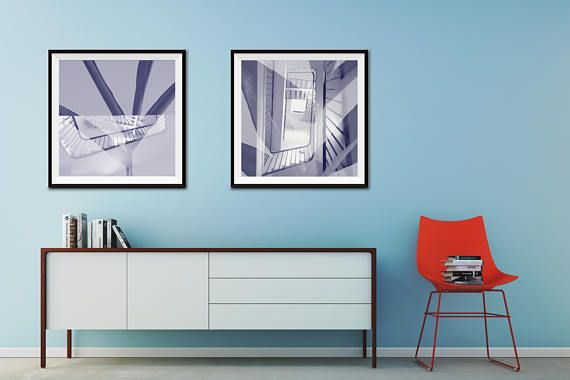 Double Exposure Staircase decor Architectural Office gift