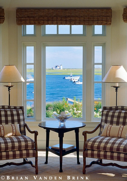 love the chairs: Brian Vanden, Beautiful View, Dasilva Architects, The View, Interiors Design, Check Chairs, Beaches Houses, Architects Builder, Buffalo Plaid