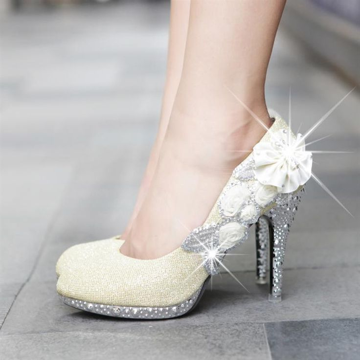 Wholesale sapatos femininos salto alto 2014 New Hot Selling Wedding shoes platform bridal red /gold Rhinestone pumps US $44.38