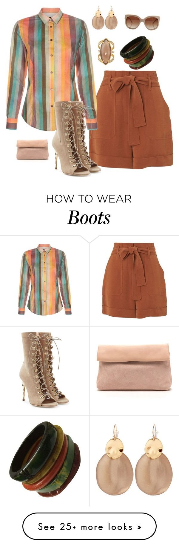 """""""Earth tones"""" by kerashawn on Polyvore featuring Whistles, Paul Smith, Balmain, Henri Bendel, Alexis Bittar and STELLA McCARTNEY"""