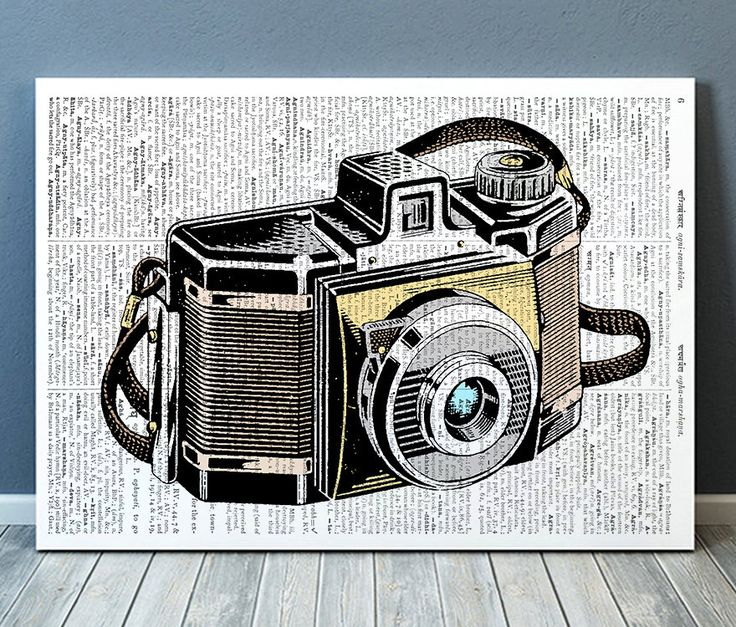 Retro Poster Kamera print Vintage Kunst Antik von OneDictionary