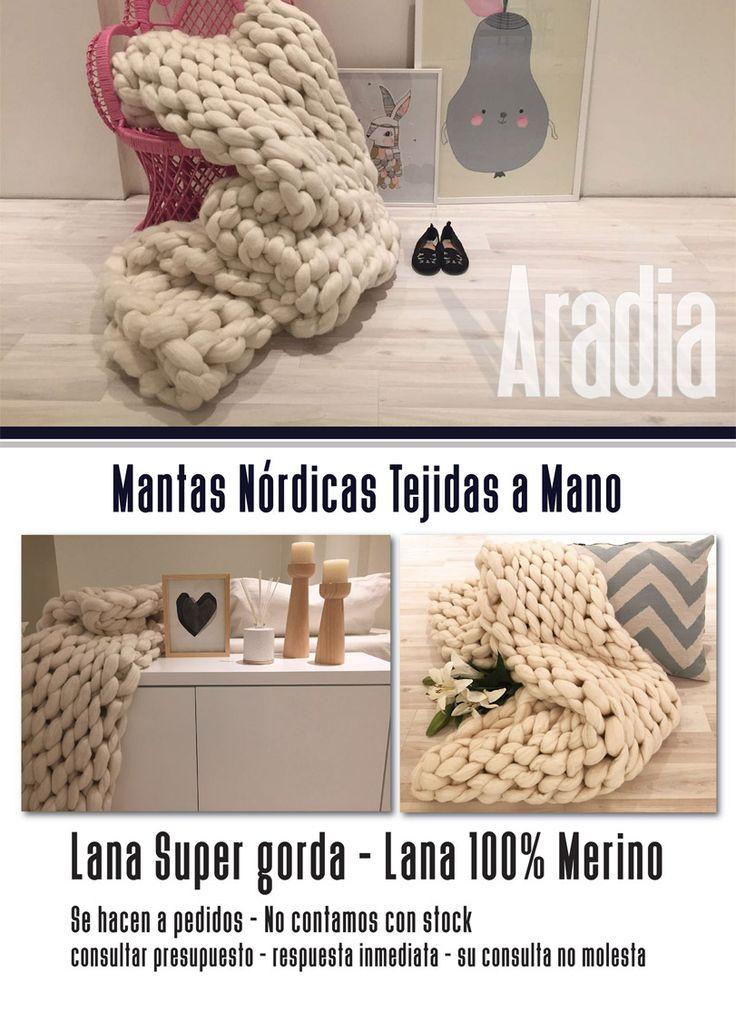 Manta Nordica XXL Super suave - Lana 100% merino Tejido a mano totalmente artesanal.