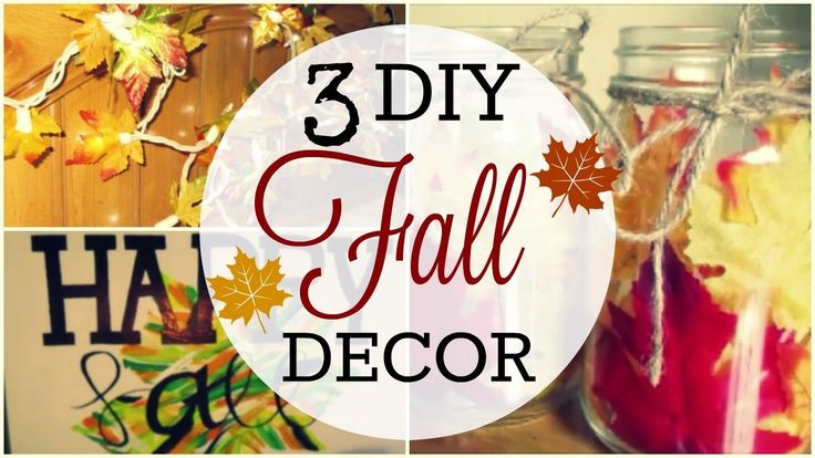 3 DIY FALL DECOR 2016! | Nancy Martinez