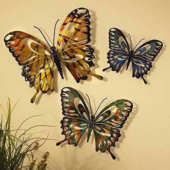 14 best butterfly wall art images on Pinterest | Wall decor, Metal ...