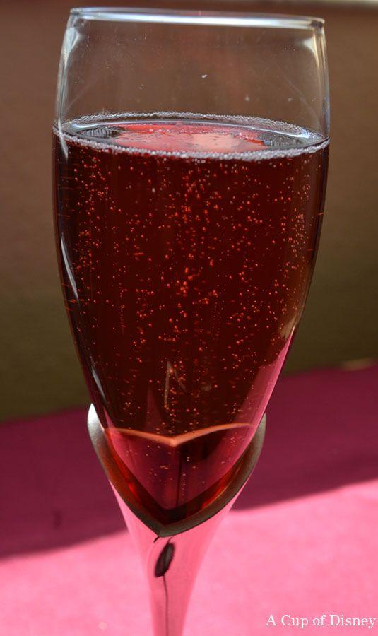 Disney Fantasy's Red Carpet Cocktail Recipe. Sparkling Wine, Ketel One Vodka, Chambord #drinkrecipe