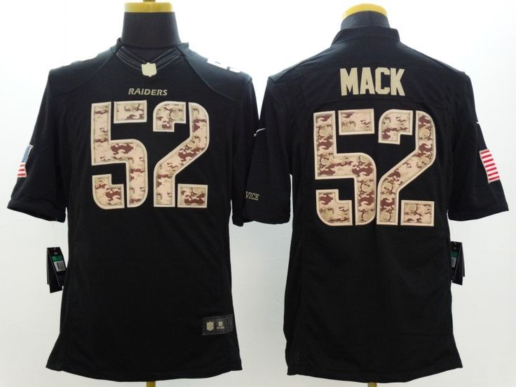 cheap wholesale mens oakland raiders 52 khalil mack nike black salute to service jersey size