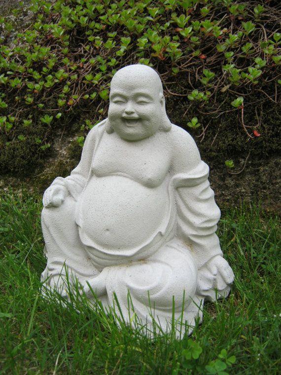 Buddha Large Buddha Statue Budai Concrete by WestWindHomeGarden