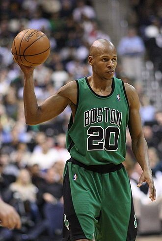 Ray Allen with the Celtics on January 13, 2008 No. 34