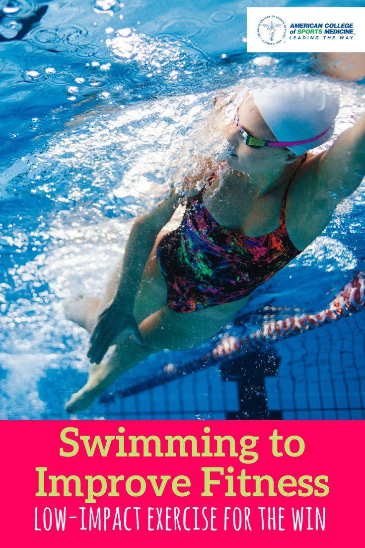 Swimming is a low impact activity that can improve cardiovascular fitness, has been shown to increase muscular strength and endurance, helps to maintain muscle mass, burns significant calories, is a form of rehabilitation and can be performed at all ages.