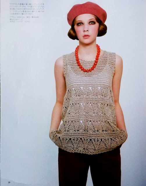 crochet tunic-topCROCHET AND KNIT INSPIRATION: http://pinterest.com/gigibrazil/crochet-and-knitting-lovers/ ...