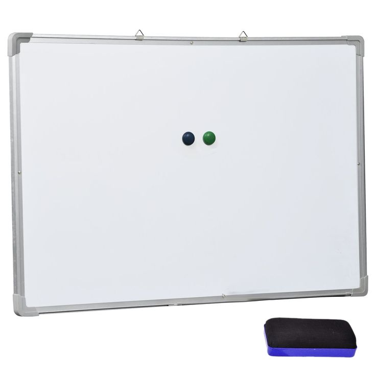 Affordable 70x50cm Magnetic White Board Whiteboard Classroom Teaching Board With a cleaner eraser and Two magnetic buckles