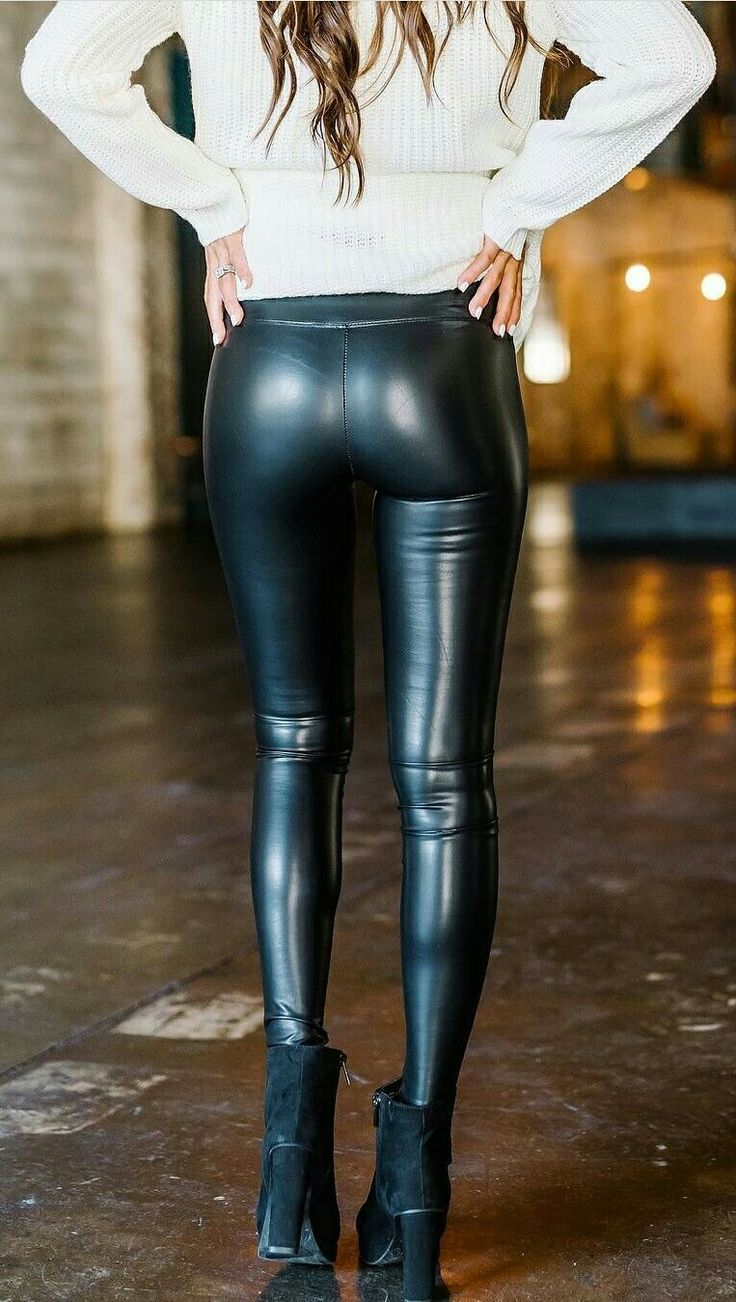 Hip Tight Leggings High Elasticity Hot Ass Pu Skinny Leather Pants Women Black Leggings Sports Yoga Pants Large Size