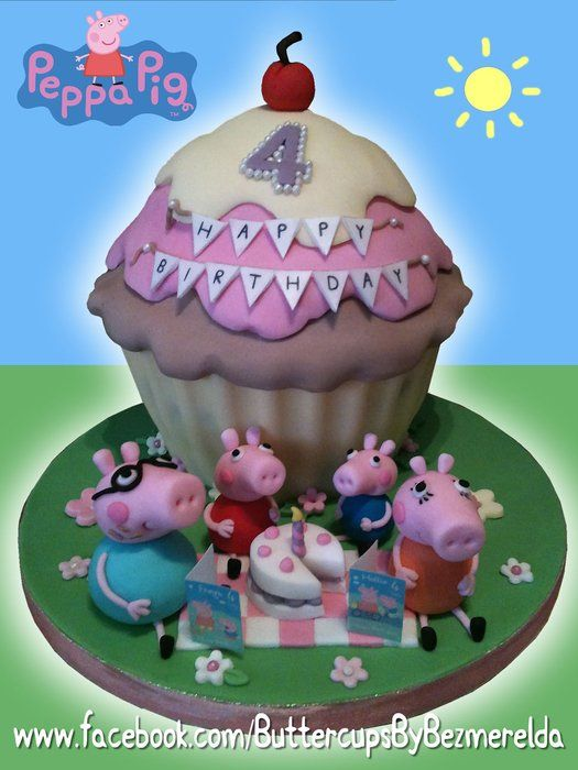 Peppa Pig birthday tea party | Peppa cakes
