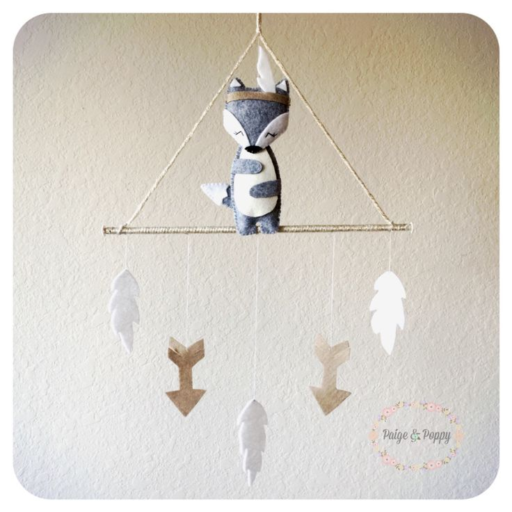 Baby Mobile - Wolf Baby Mobile - Modern Baby Mobile - Gold and White Nursery - Tribal Arrow Neutral Grey baby mobile - Neutral Baby Mobile by PaigeAndPoppy on Etsy https://www.etsy.com/listing/236752634/baby-mobile-wolf-baby-mobile-modern-baby