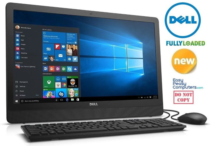 DELL Desktop Computer All in One 19.5 Windows 10 500GB 4GB DVD (FULLY LOADED) #Dell #computer #computers