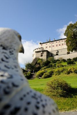 Hohenwerfen Castle in Salzburg, Austria. A beautiful day trip from Salzburg City. For more day trip suggestions from Salzburg check our article.