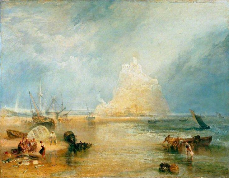 'ST MICHAEL'S MOUNT' | J.M.W. Turner (pic. Penlee House Gallery & Museum)     ✫ღ⊰n